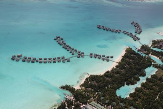 Four Seasons Resort Bora Bora: Four Seasons Bora Bora- view from helicopter tour