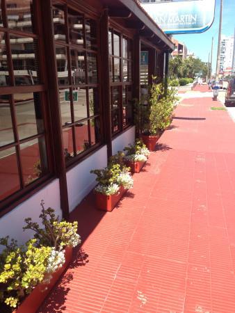 Hotel San Martin: Lindas plantas, qué tranquilidad!!!