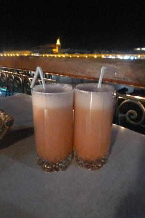 Les Premices: Mocktails above Jamaa Fnaa