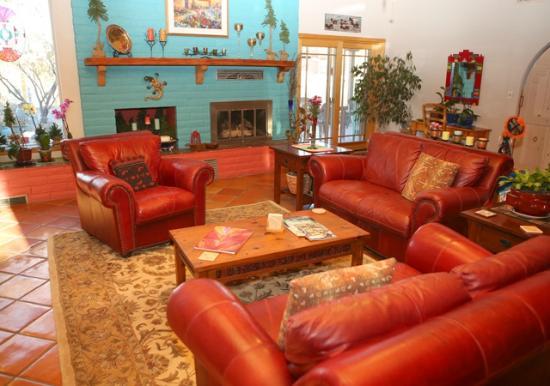 Corrales, New Mexiko: Interior living room area