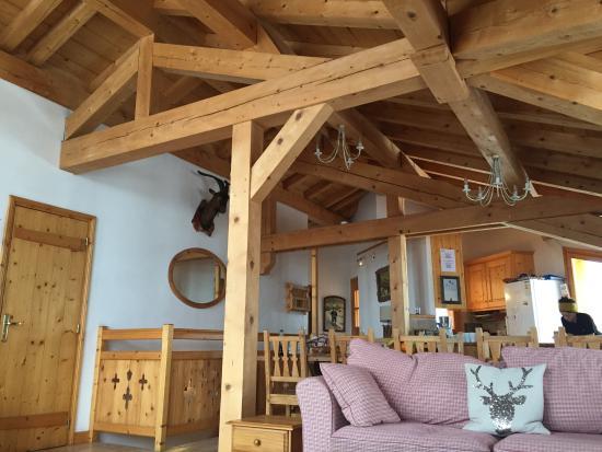 Chalet Jamais Bleu : Living room at Jamais Bleu