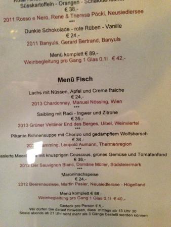 menu - picture of restaurant esszimmer, salzburg - tripadvisor, Esszimmer dekoo