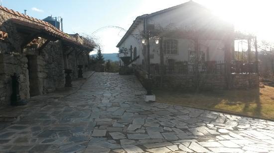 Almazara de San Pedro: Desde la entrada. De frente el restaurante y recepción y a la izquierda las habitaciones de la 0