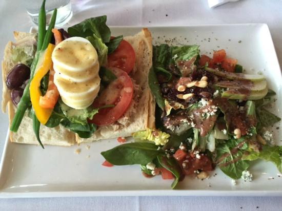 Cafe Amano: Nicoise (Tuna) Sandwich with Amano Salad