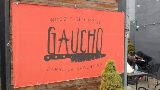 Gaucho Parrilla Argentina : Outside sign