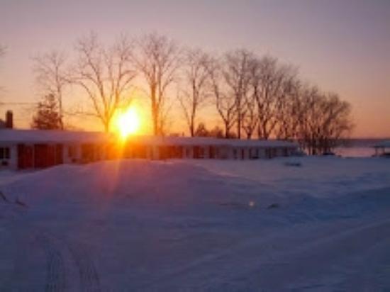 Winter Sunrise over the Bayside Motel
