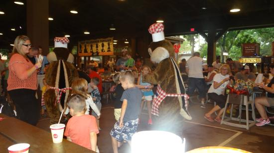 Mickey Backyard Bbq chip and dale dancing with kids at mickey's backyard bbq - picture