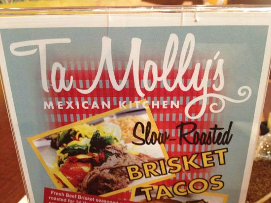 Tamollys Menu Cover Picture Of Tamollys Mexican Kitchen