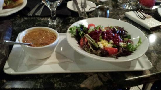 MOSAIC Restaurant Richmond: Half salad & soup: super fit salad and white bean turkey chili