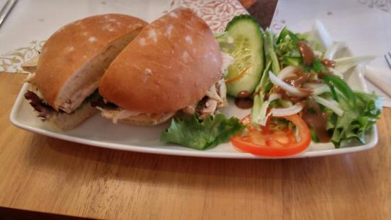 Goody Blake's: Chicken sandwich - 5 out of 10 had a little bit of grissle : /