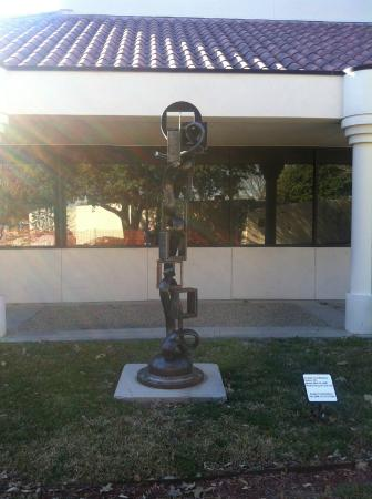 Irving Arts Center: Stand alone piece outside main entrance
