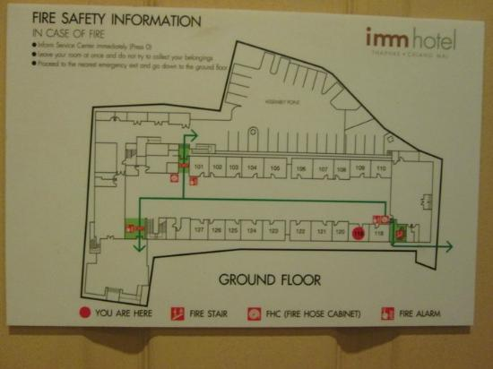 Fire Escape Floor Plan Picture Of Imm Hotel Thaphae Chiang Mai Tripadvisor