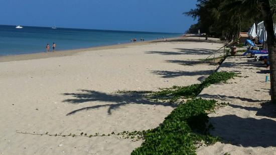 Lanta Casuarina Beach Resort: Strand gegen 10 Uhr vor dem Resort