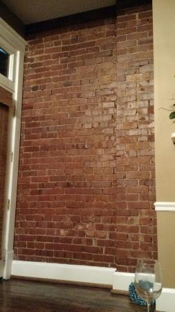 The Dwell Hotel: Exposed brick