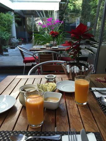 Hotel Villa Condesa: Espaco café