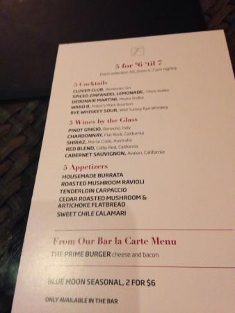 Fleming S Prime Steakhouse Wine Bar Hy Hour Menu