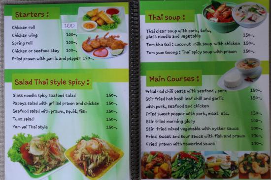 Mai Khao, Thaïlande : 3-4. page Menu February 2015