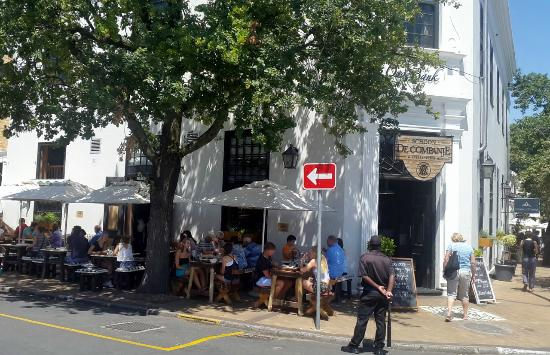 Schoon de Companje: Entrance and Sidewalk seating - lovely spot