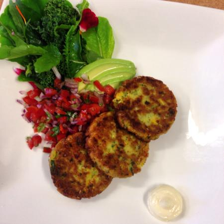 Meridian Cafe: Corn Fritters!