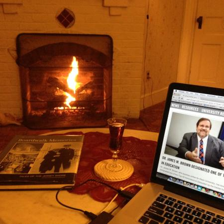 Candlelight Inn: Drinking Sherry by the firepace and catching up on my online courses