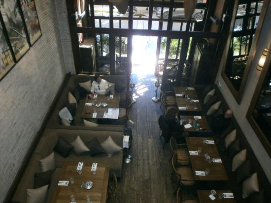 Restaurant Le LOFT : Main Dining Room from Mezzanine
