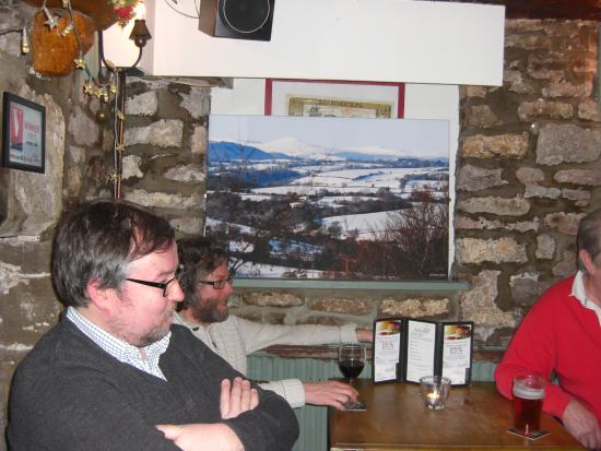The Bell at Caerleon: Our hosts enjoying a moment of relaxation