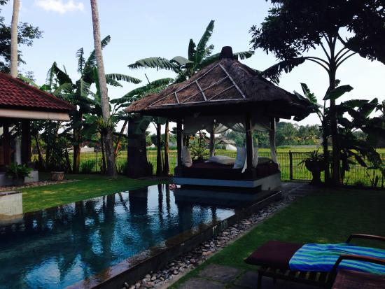 Villa Kaba Kaba Resort Bali : The from one of the rooms showing the pool and ottoman area