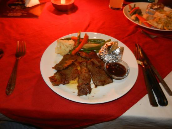 Rivercove: Pork loin served with BBQ sauce
