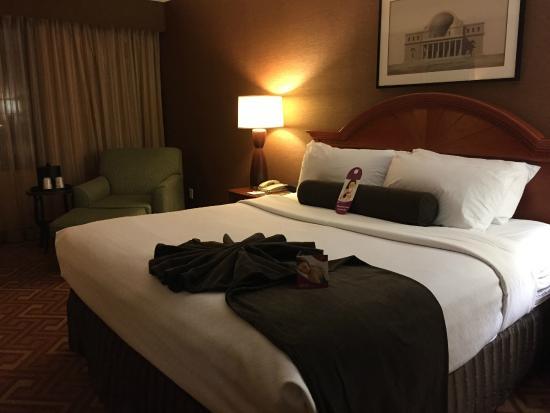 Crowne Plaza Hotel Englewood : ホテルの部屋の様子