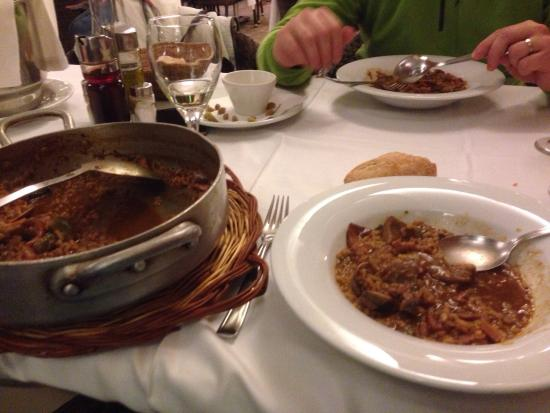 Restaurant Hotel Picasso: Arroz caldoso con alcachofas
