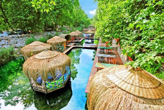 Lykia Edrassa Hotel: Der Anblick dieser Pavillons streichelt deine Augen. Hier bist du nur noch am geniessen.