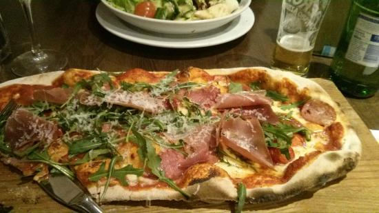 Prezzo: one of the VIP pizza range - lots of meat and chilli peppers