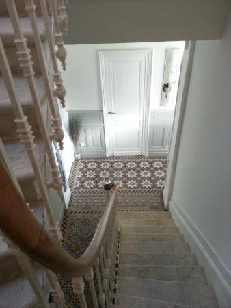 La Halte Montaigne : escalier