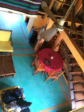 Casa Azul - La Madera : looking down from upper
