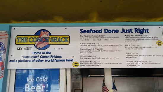 The Conch Shack: Menu - 02/15