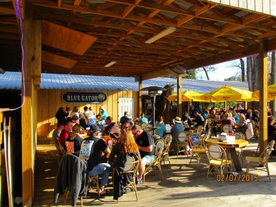 blue gator tiki bar restaurant patio