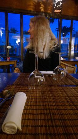 Oasis Cafe: inside at the table
