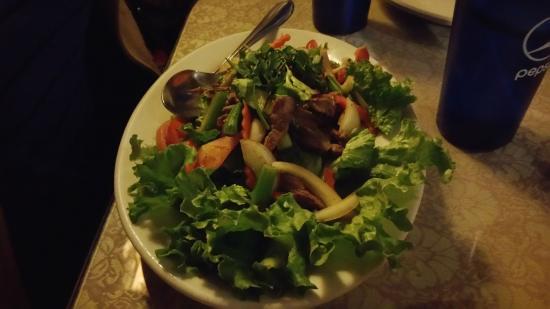 Salad at Sala Thai Downtown Detroit