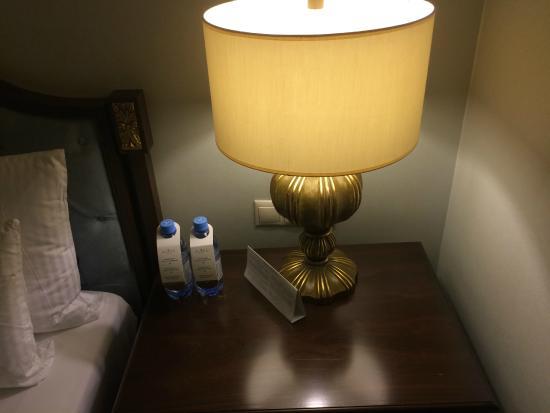 Rixos Almaty: Desk Lamp & Complimentary Water