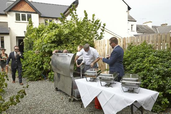 West End House Restaurant: Lamb on a spit (private event)