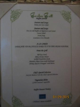 Menu At The Garden Grill Picture Of Grand Bahia Principe Punta Cana Punta Cana Tripadvisor