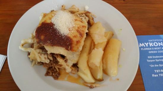 Mykonos Passio With Greek Potatoes