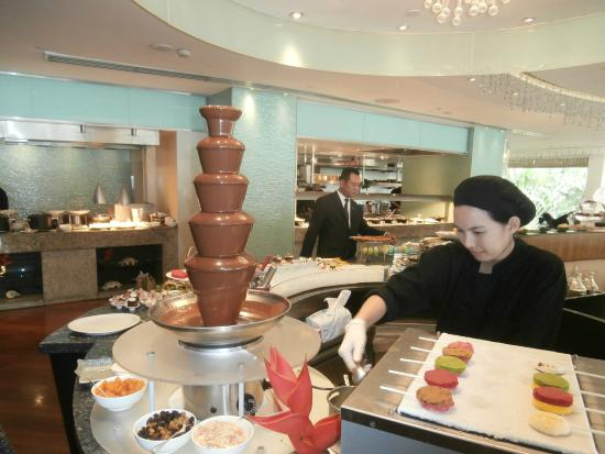 Beautiful Chocolate Fountain And Macarons Picture Of Lord Jim S