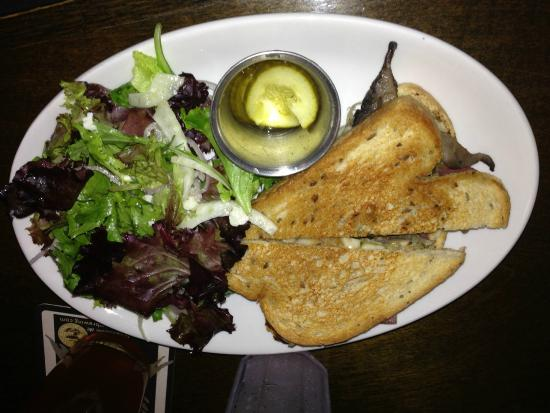 Twenty Tap: Delish grilled mushroom sandwich and salad