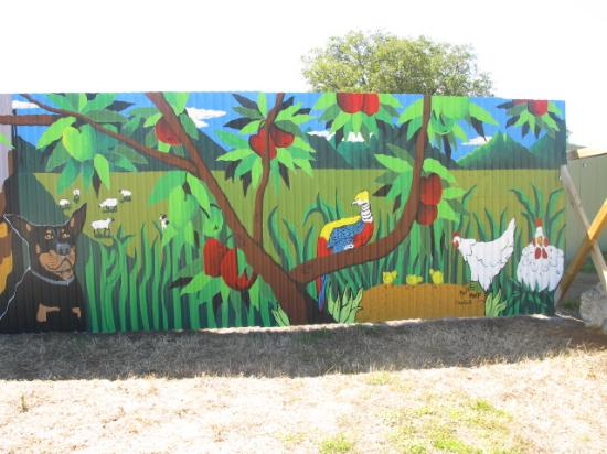 Mural at Huon Valley Caravan Park