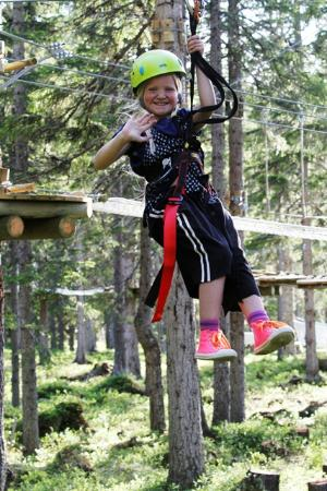 Funny ziplines and climbing