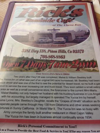 Pinon Hills, Kalifornia: *Ricks cafe*