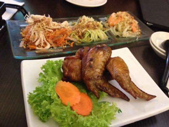 Madam Saigon: Good salad trio, Bad chicken