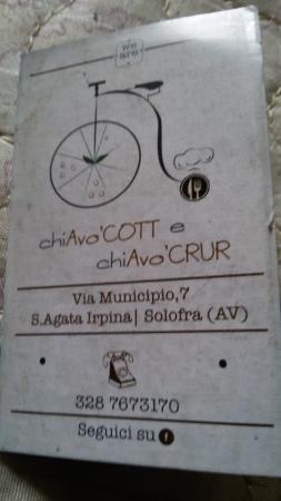 chiAvoCOTTechiAvoCRUR