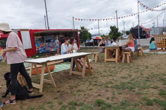 Silo Park: Great place to stop for a beer or cider and people watch